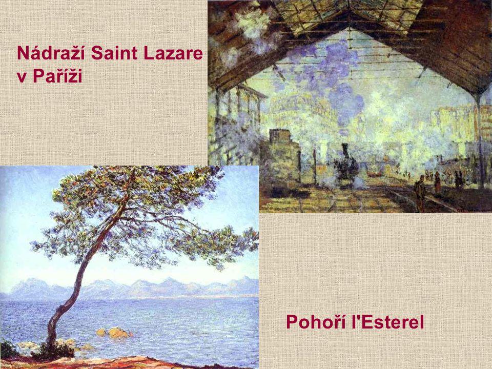 Nádraží Saint Lazare v Paříži Pohoří l Esterel