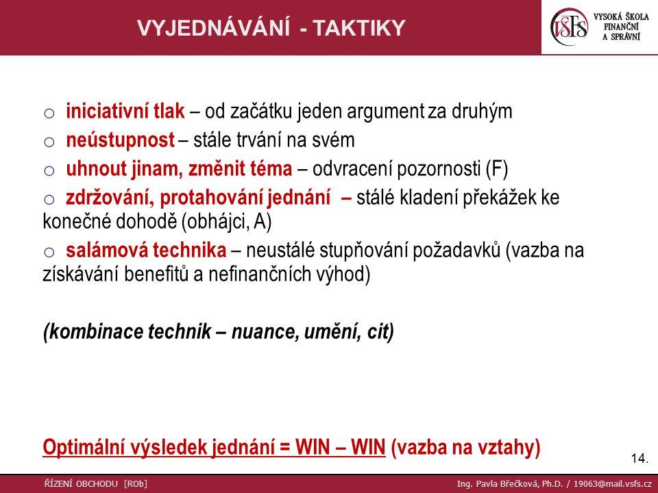 14. ŘÍZENÍ OBCHODU [ROb] Ing. Pavla Břečková, Ph.D.