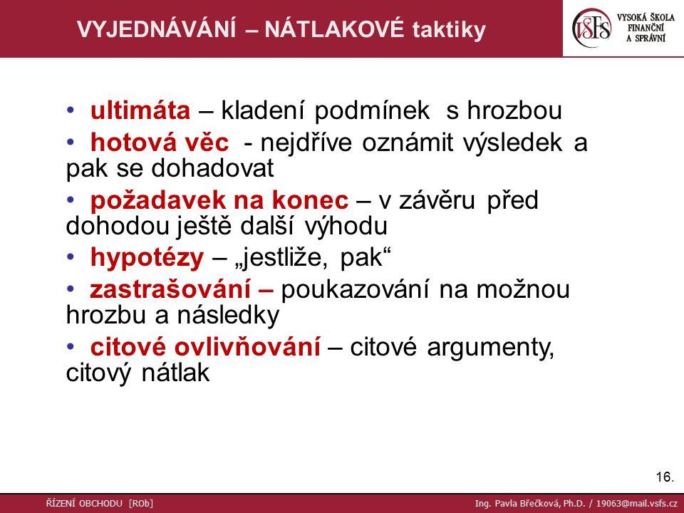 16. ŘÍZENÍ OBCHODU [ROb] Ing. Pavla Břečková, Ph.D.