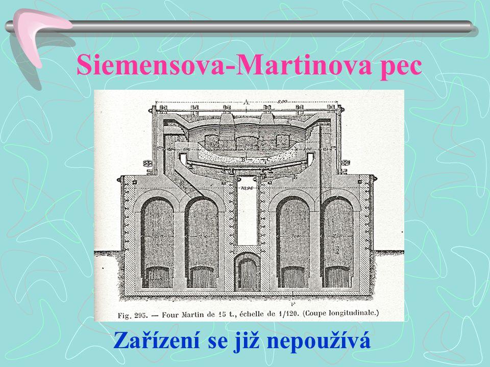 Siemensova-Martinova pec Zařízení se již nepoužívá