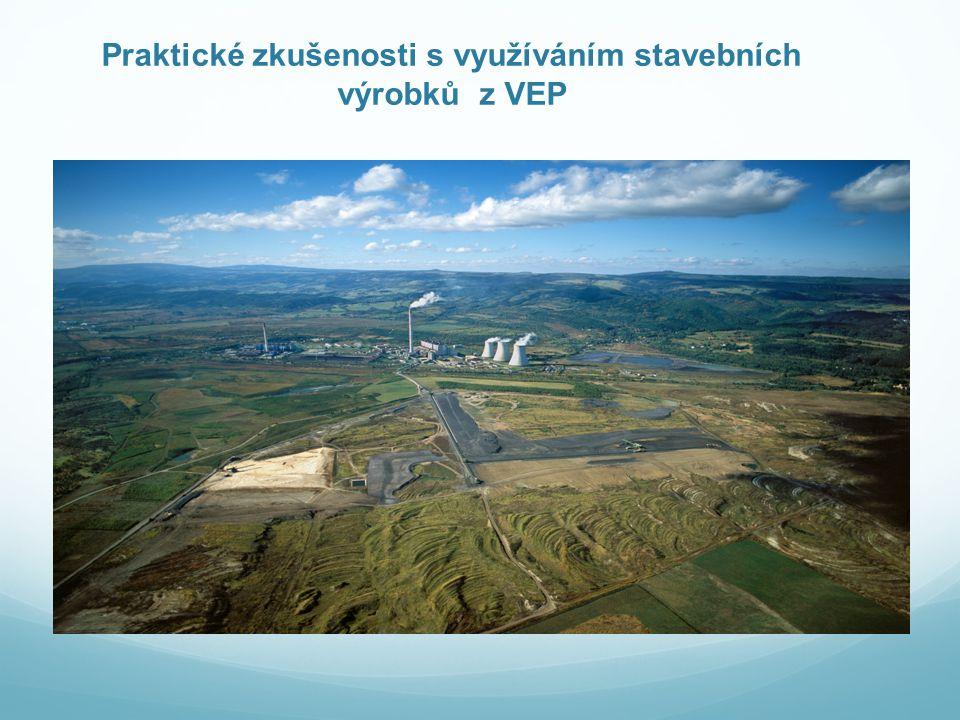 Roční produkce VEP ve skupině ČEZ o ČEZ je absolutně největším producentem VEP a jeho celková roční produkce v rámci klasické energetiky – 9 mil tun/rok z toho cca 0,8 mil tun/rok (cca 9%) uplatnění na externím trhu ve stavebnictví jako přísada do stavebních hmot (především do betonu, cementu a pórobetonu) více než 90% využíváno pro rekultivace, stavby a sanace vytěžených a výsypkových prostorů povrchových dolů o Roční produkce VEP Skupiny ČEZ: Popílek6,0 mil tun/rok Struska a škvára1,3 mil tun/rok Energosádrovec a SDA produkt1,7 mil tun/rok