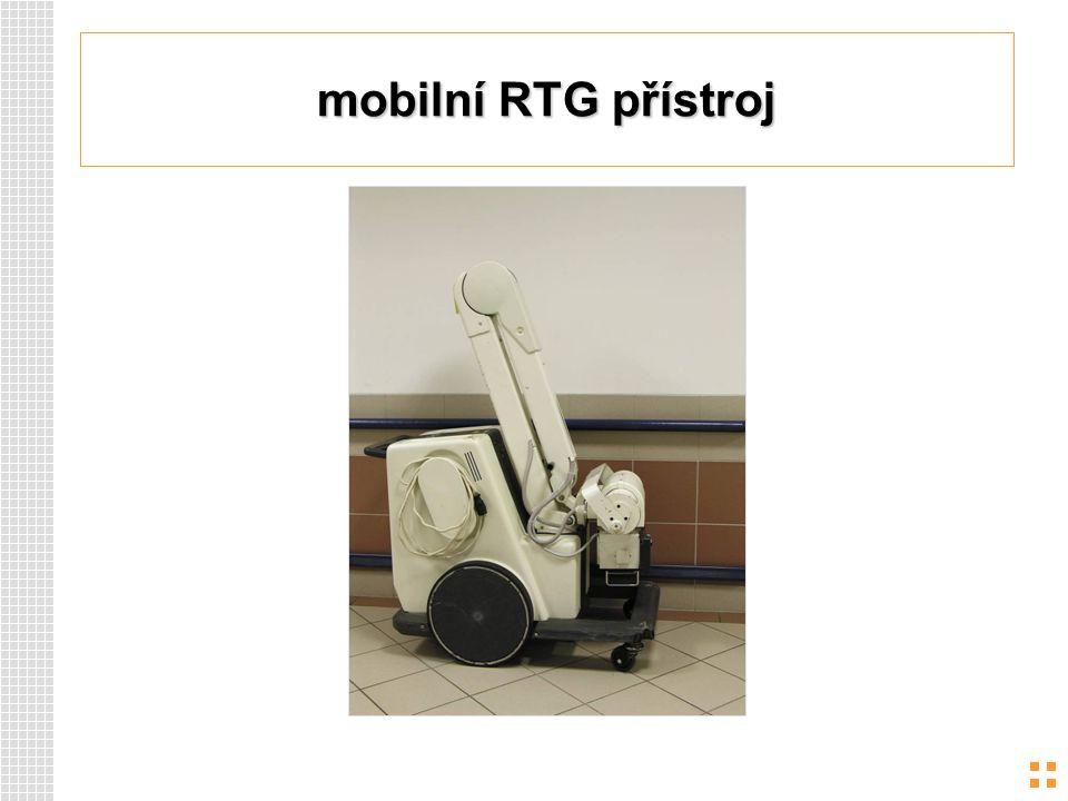 mobilní RTG přístroj