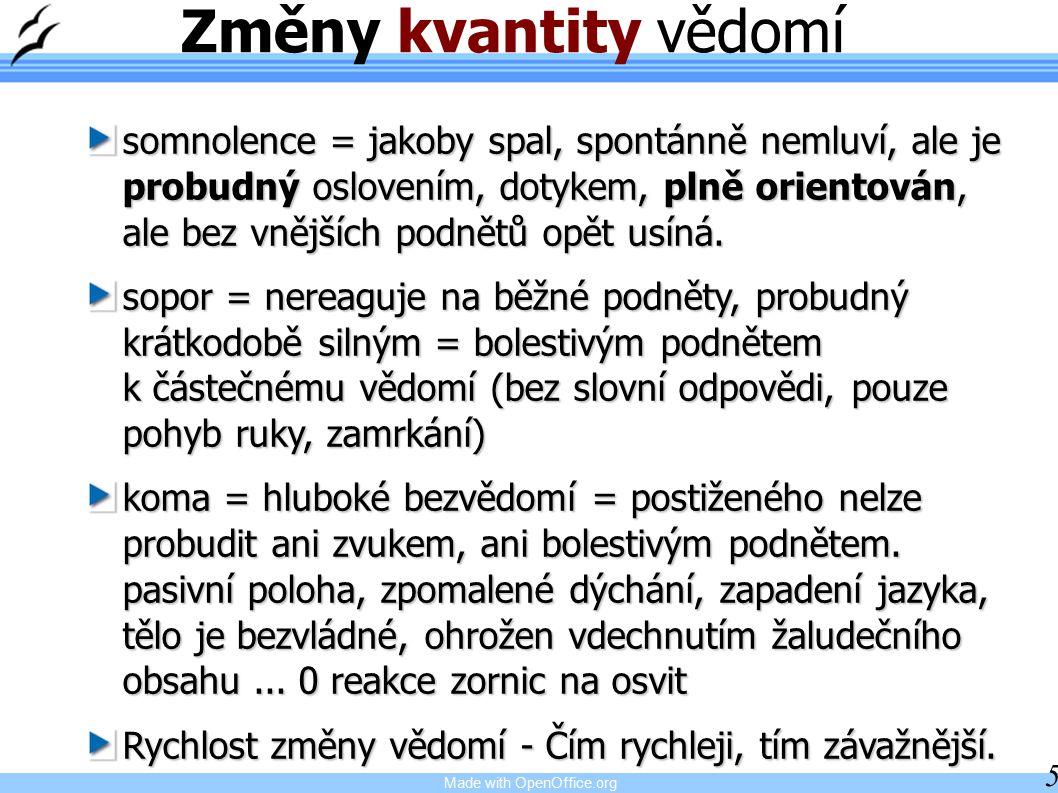Made with OpenOffice.org 16 Zánět mozku, obalů Encefalitis, meningitis Příčiny: baktérie (Neisseria meningitidis = meningokok) viry (herpetický virus = opar) paraziti
