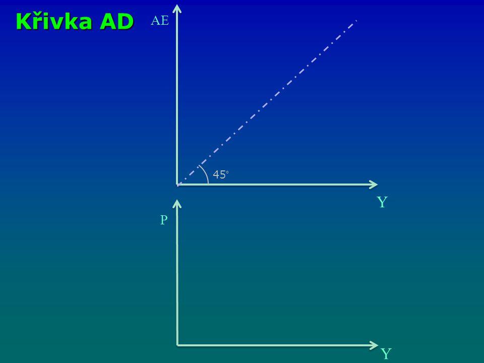 AE Y 45° P Y