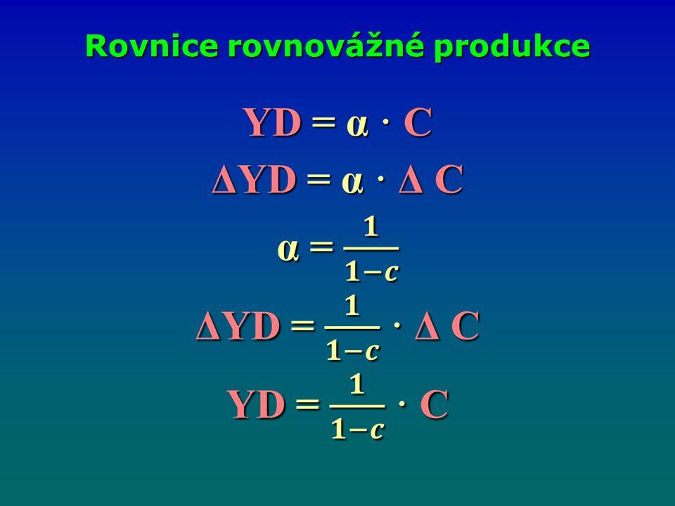 Rovnice rovnovážné produkce