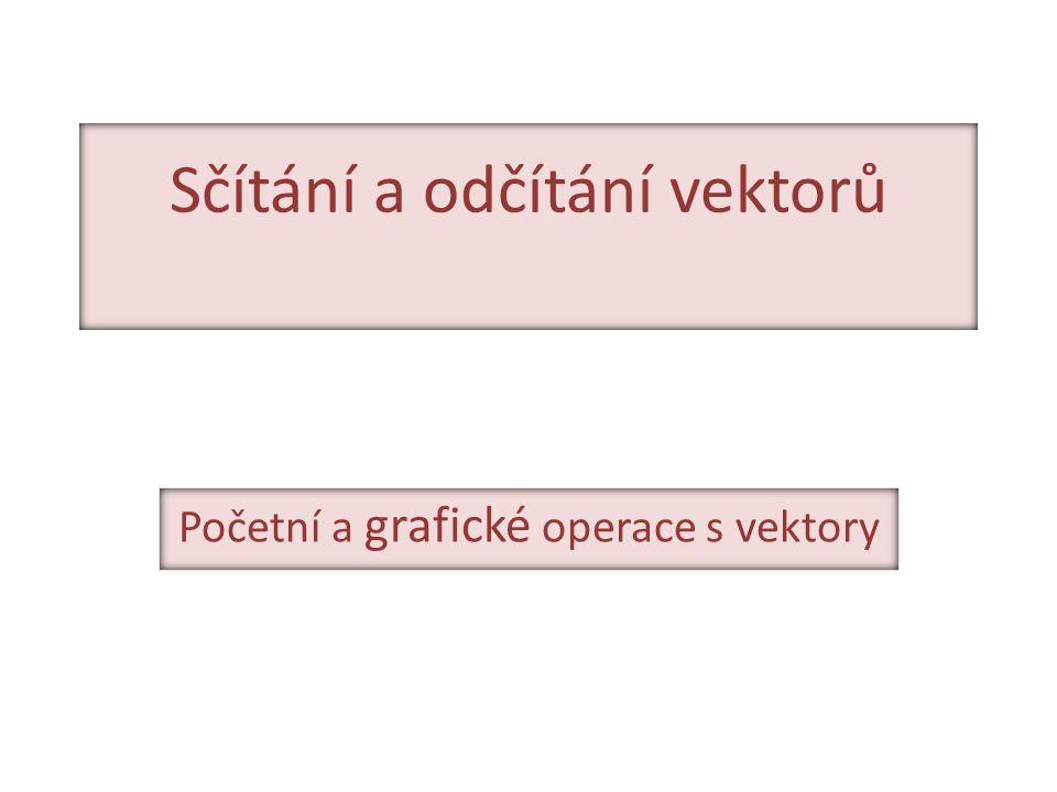 Sčítání a odčítání vektorů Početní a grafické operace s vektory