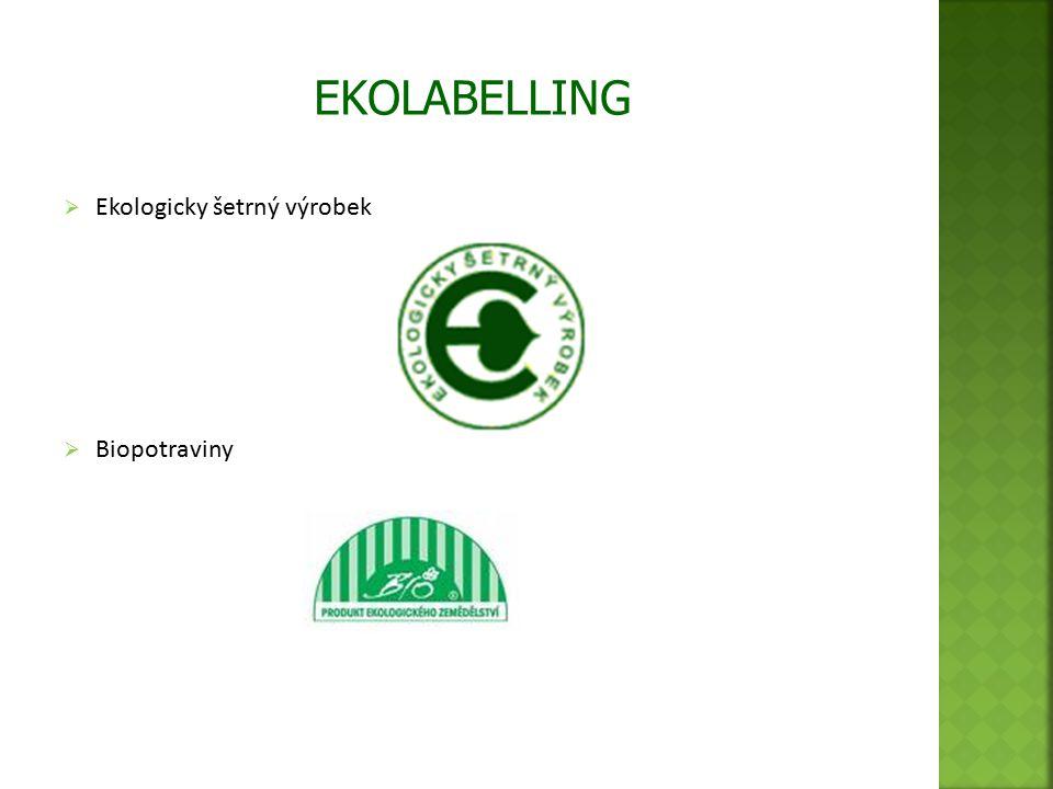  Ekologicky šetrný výrobek  Biopotraviny EKOLABELLING