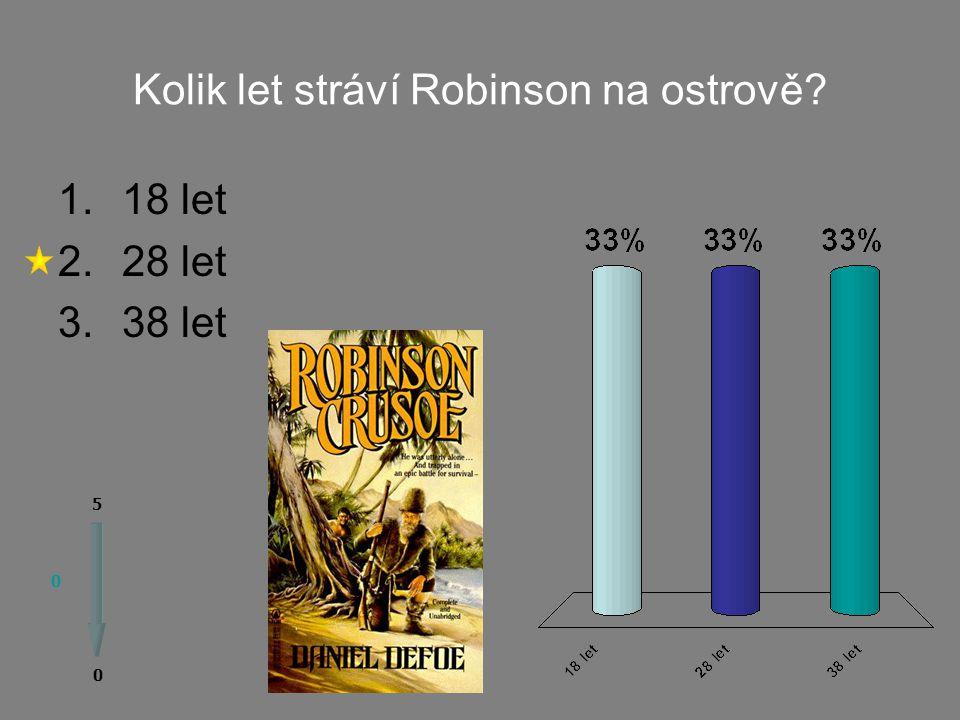 Kniha Robinson Crusoe vychází ze skutečného příběhu jistého námořníka: 0 0 5 1.ano 2.ne