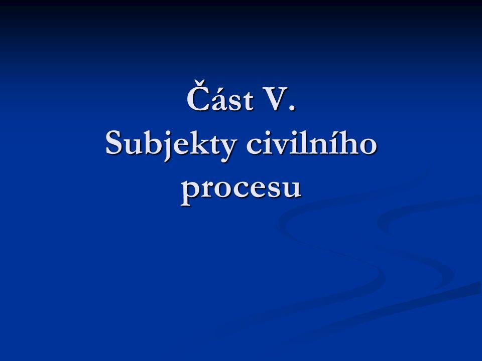 Část V. Subjekty civilního procesu