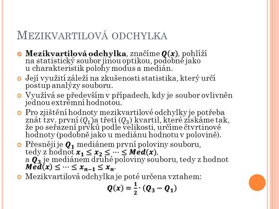 M EZIKVARTILOVÁ ODCHYLKA