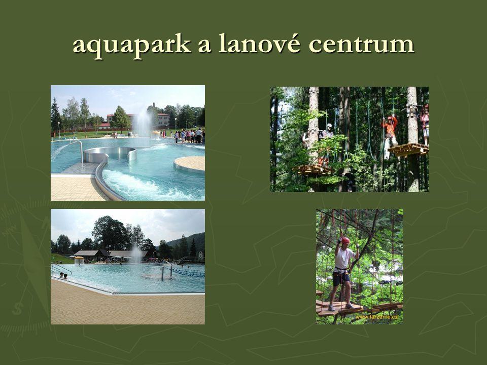 aquapark a lanové centrum