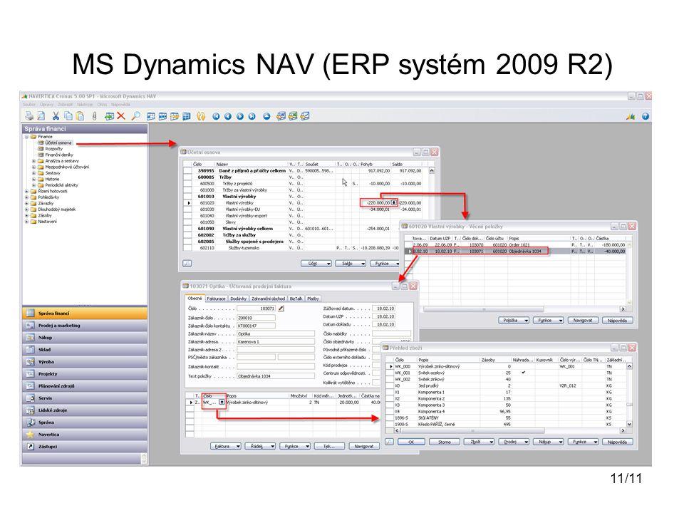 MS Dynamics NAV (ERP systém 2009 R2) 11/11