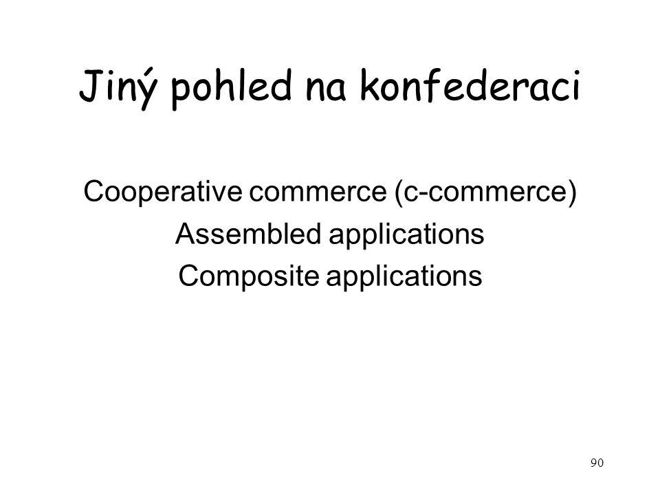 90 Jiný pohled na konfederaci Cooperative commerce (c-commerce) Assembled applications Composite applications