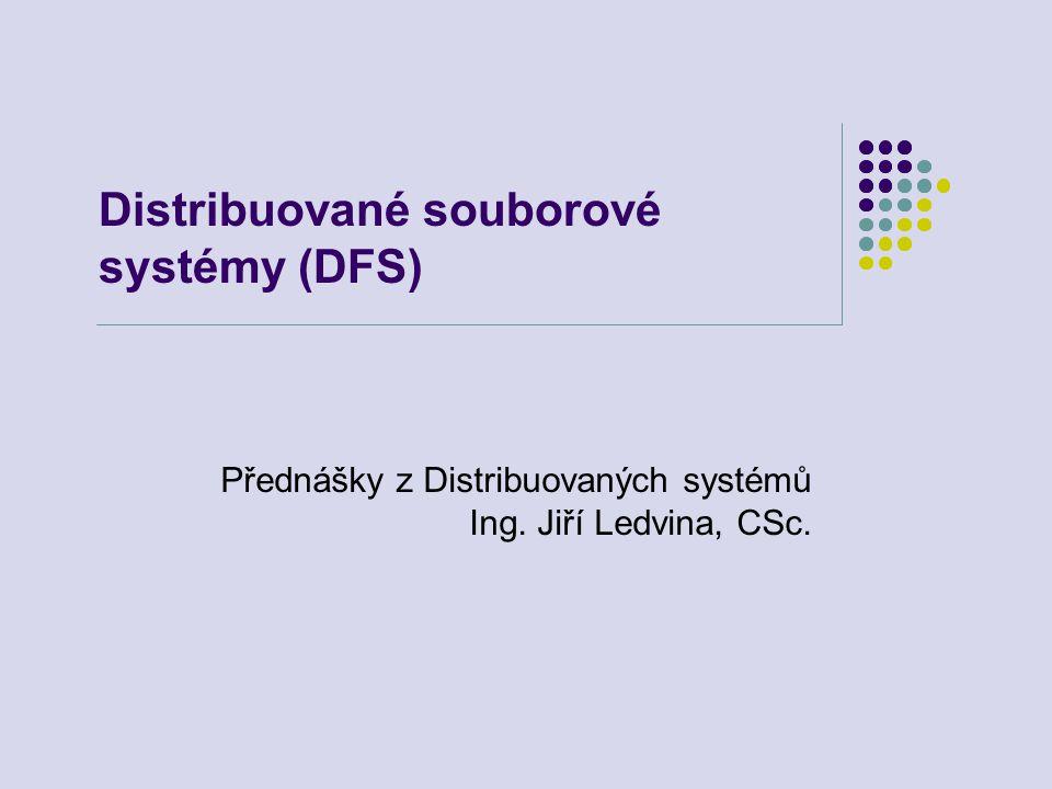 4.11.2007Distribuované systémy72 Sdílení souborů v Coda Transakční prostředí sdílení souborů v Coda.