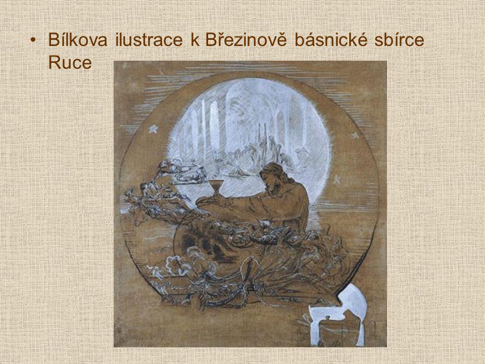 Bílkova ilustrace k Březinově básnické sbírce Ruce
