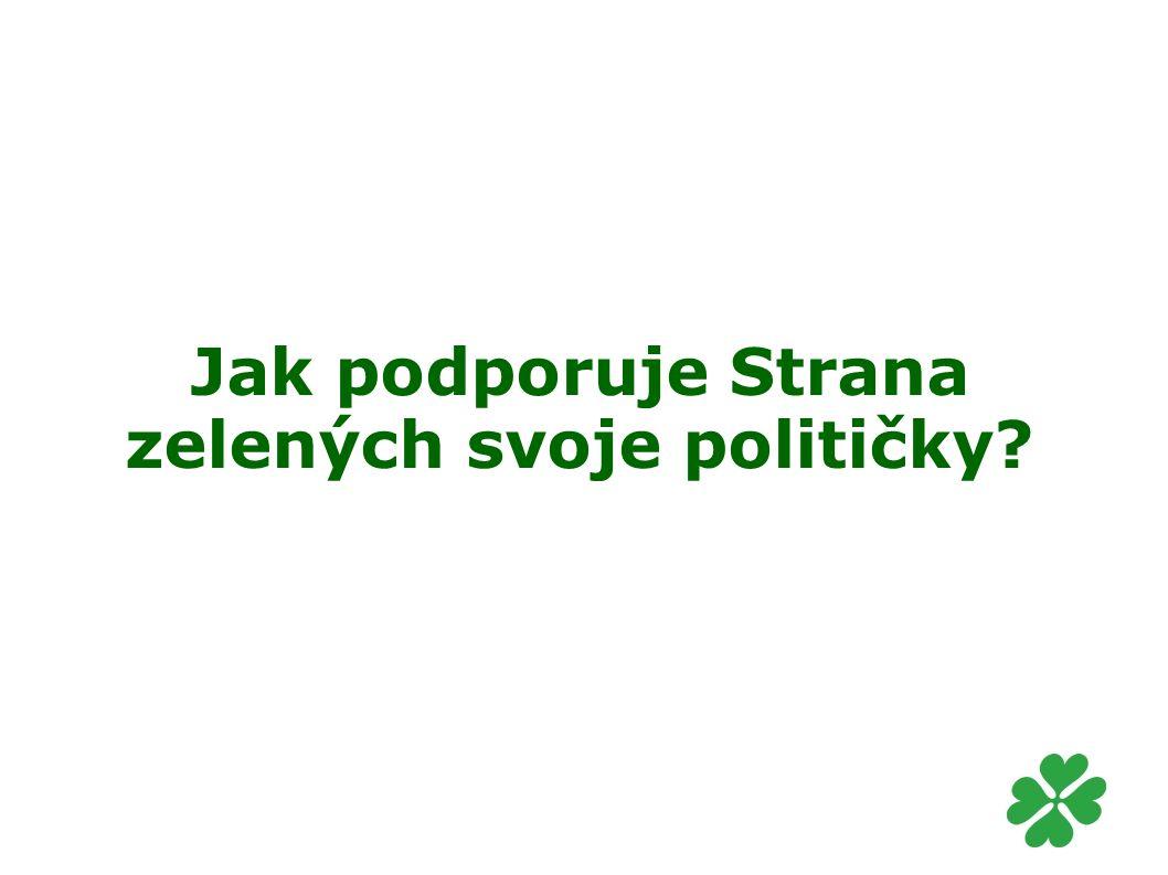 Jak podporuje Strana zelených svoje političky?