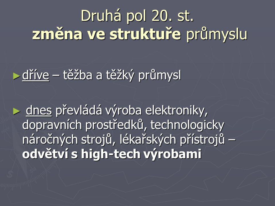SP: Práce s učebnicí str.77-78 1.Kde je koncentrován průmysl 2.