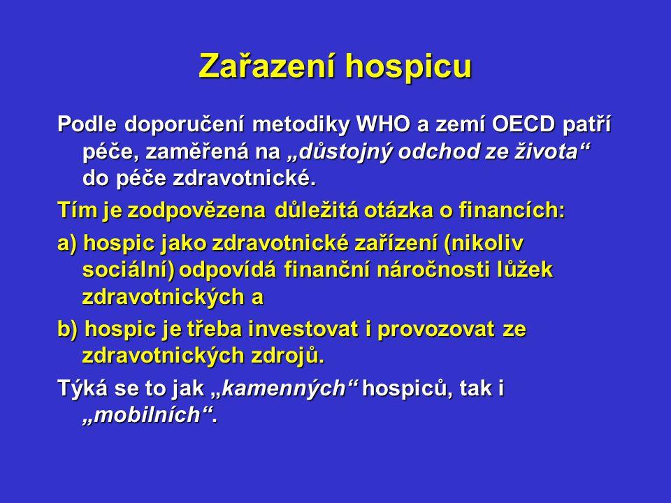 Koncepce hospiců v ČR Koncepce hospiců v ČR podle záměrů MZd.