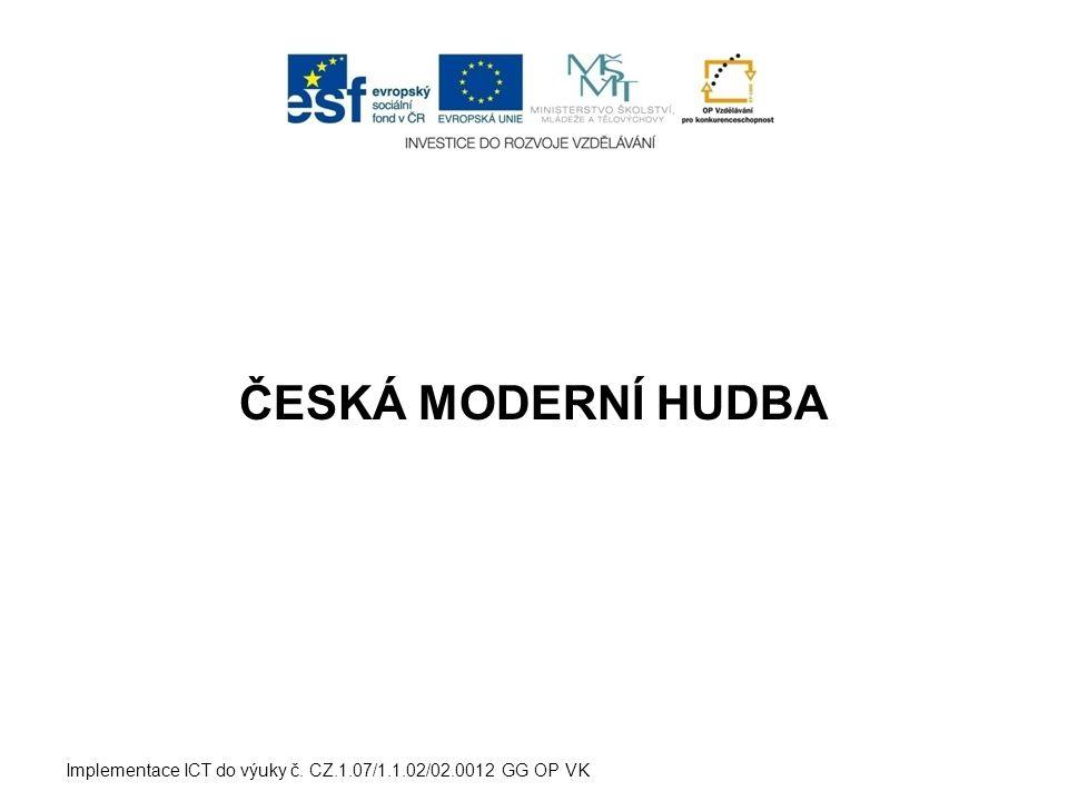 Hudební výchova 2.ročník Studijní obor: Sociální činnost Implementace ICT do výuky č.