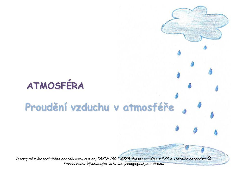 Proudění vzduchu v atmosféře ATMOSFÉRA Dostupné z Metodického portálu www.rvp.cz, ISSN: 1802-4785, financovaného z ESF a státního rozpočtu ČR. Provozo