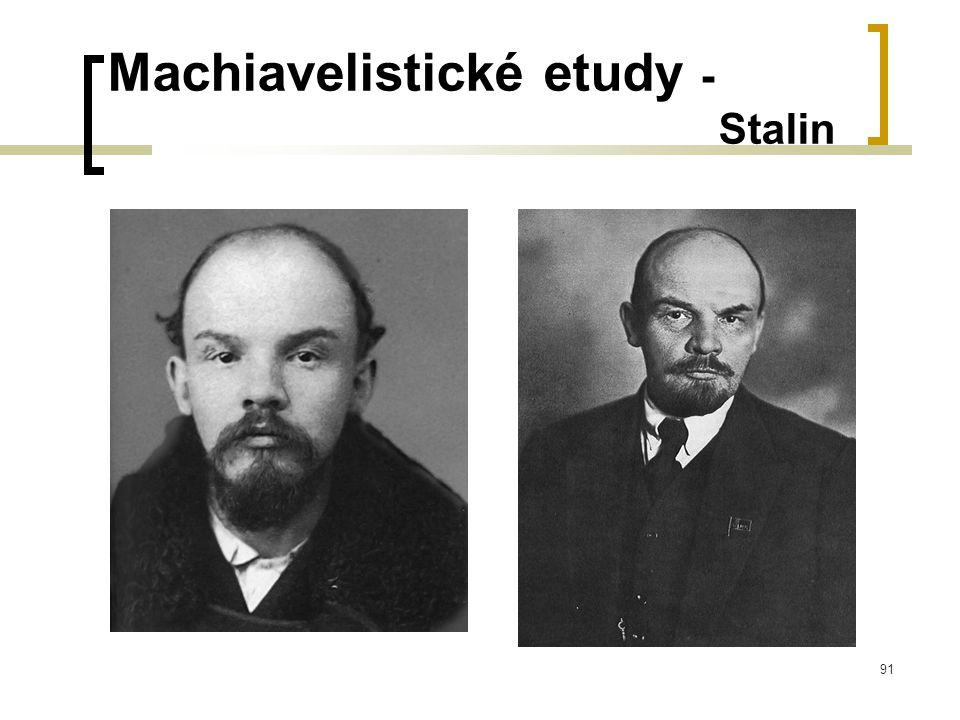 91 Machiavelistické etudy - Stalin