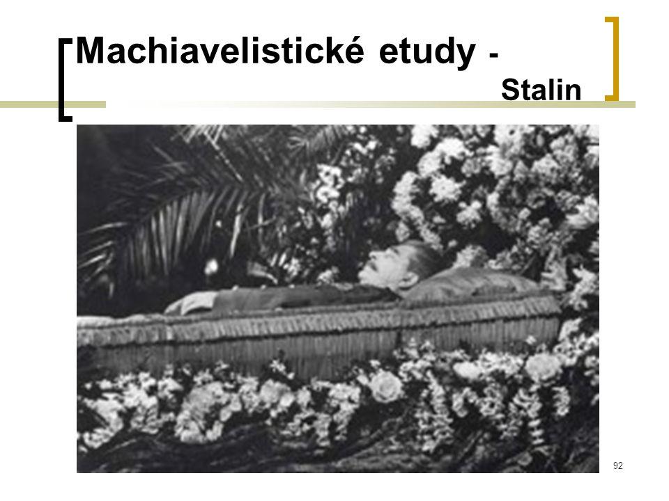 92 Machiavelistické etudy - Stalin