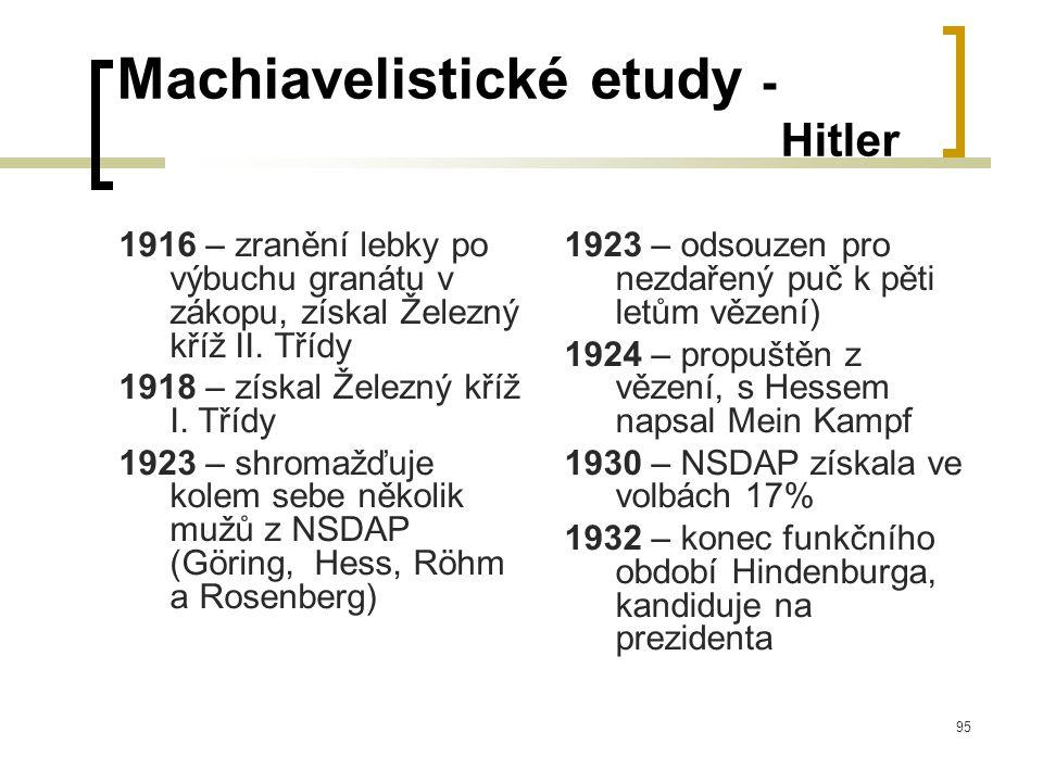95 Machiavelistické etudy - Hitler 1916 – zranění lebky po výbuchu granátu v zákopu, získal Železný kříž II.