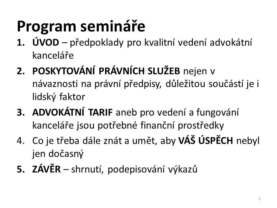 Advokátní tarif II.