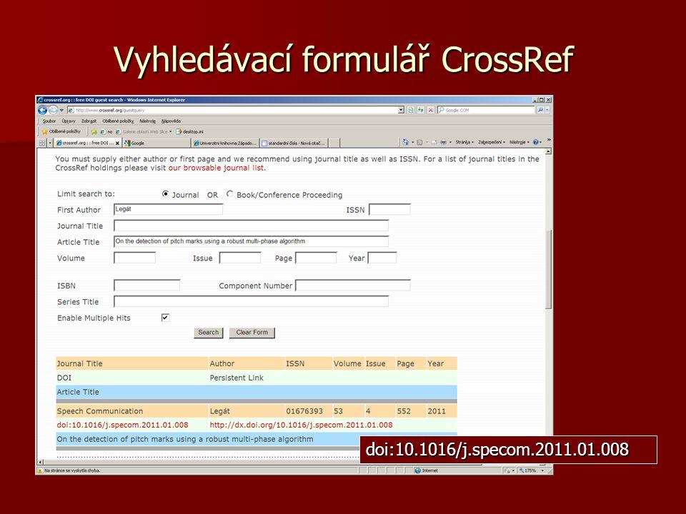 Vyhledávací formulář CrossRef doi:10.1016/j.specom.2011.01.008