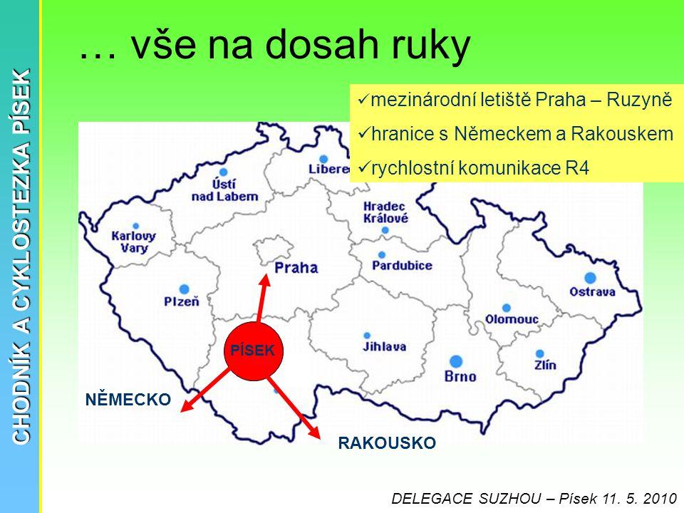 CHODNÍK A CYKLOSTEZKA PÍSEK Polsko RAKOUSKO NĚMECKO PÍSEK  mezinárodní letiště Praha – Ruzyně  hranice s Německem a Rakouskem  rychlostní komunikac