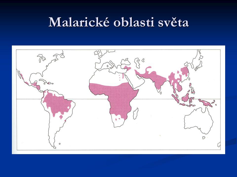 Malarické oblasti světa
