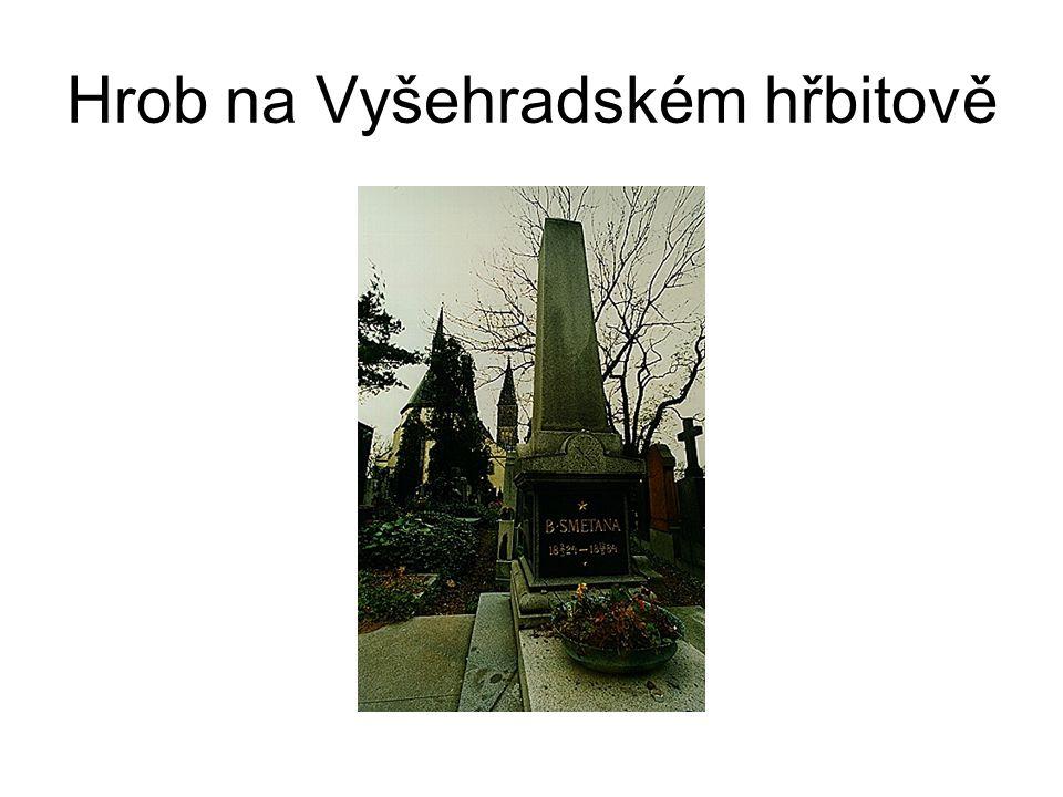 Hrob na Vyšehradském hřbitově
