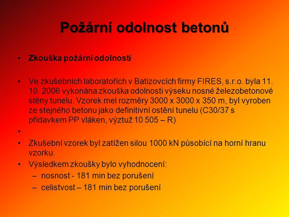 •Zkouška požární odolnosti •Ve zkušebních laboratořích v Batizovcích firmy FIRES, s.r.o. byla 11. 10. 2006 vykonána zkouška odolnosti výseku nosné žel