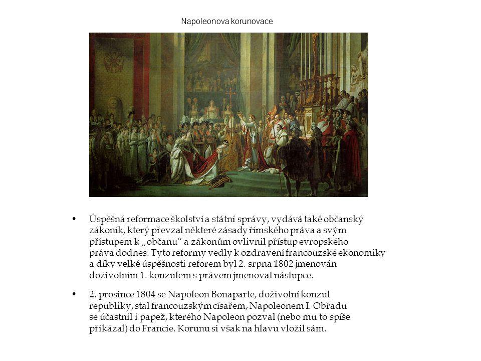 •2. prosince 1804 se Napoleon Bonaparte, doživotní konzul republiky, stal francouzským císařem, Napoleonem I. Obřadu se účastnil i papež, kterého Napo