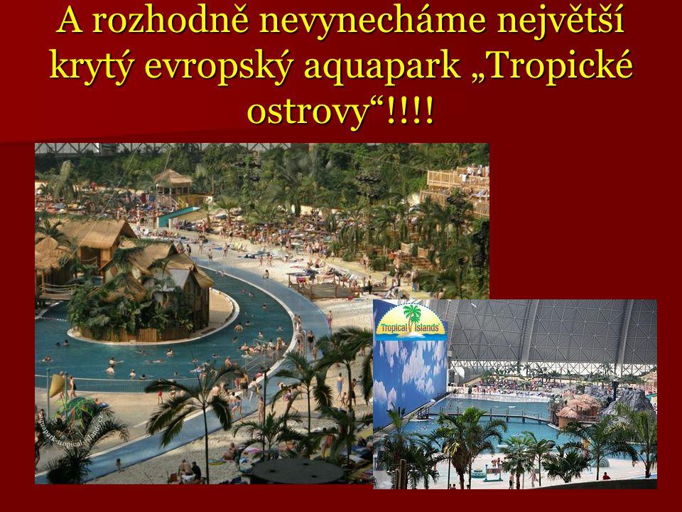 """A rozhodně nevynecháme největší krytý evropský aquapark """"Tropické ostrovy""""!!!!"""