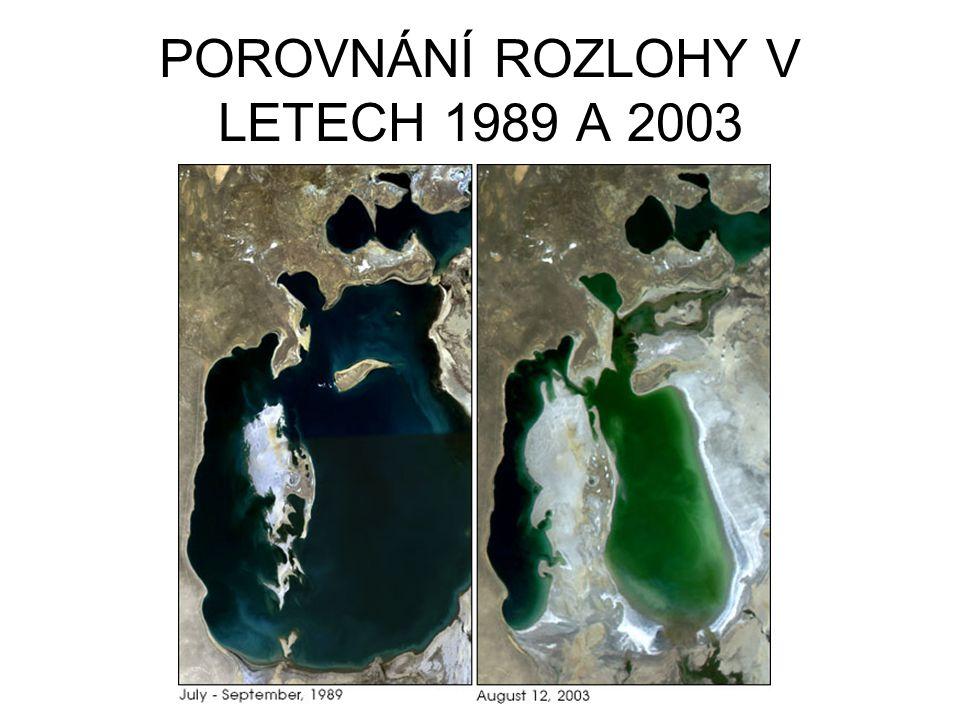 POROVNÁNÍ ROZLOHY V LETECH 1989 A 2003