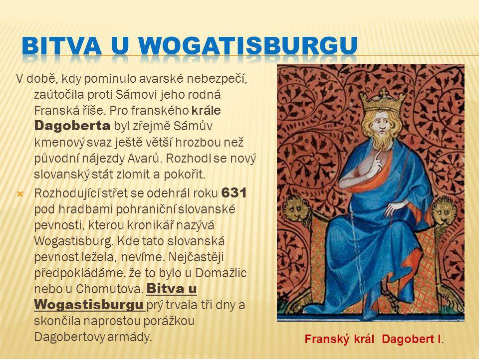 V době, kdy pominulo avarské nebezpečí, zaútočila proti Sámovi jeho rodná Franská říše.