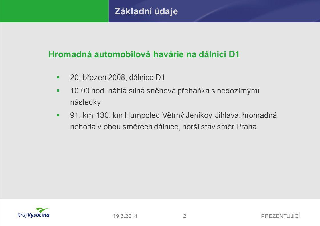PREZENTUJÍCÍ319.6.2014 Základní údaje