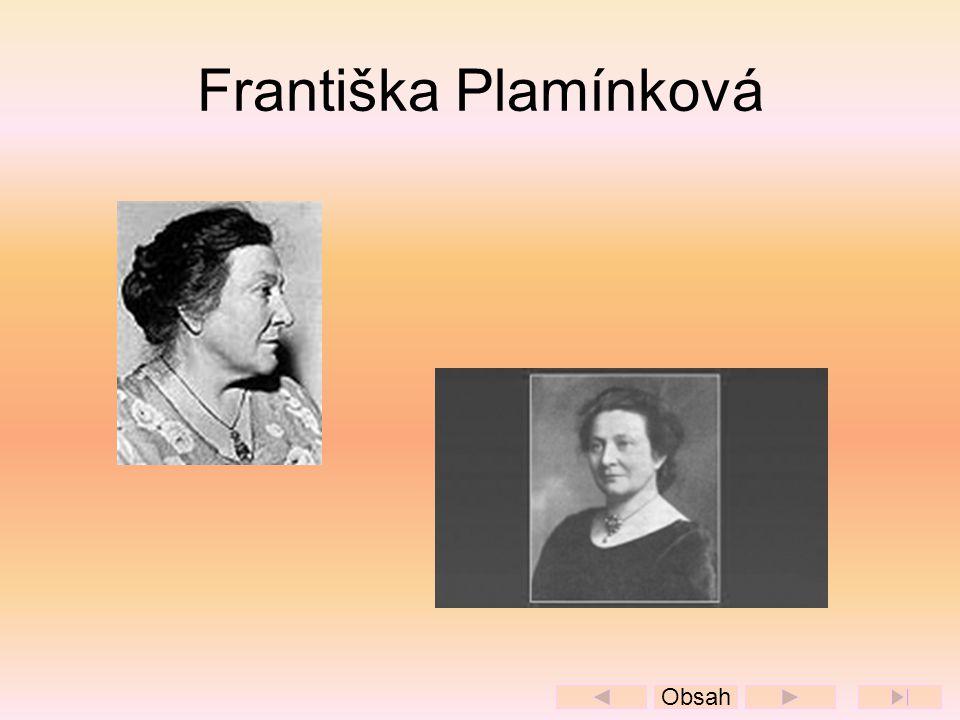 Františka Plamínková Obsah