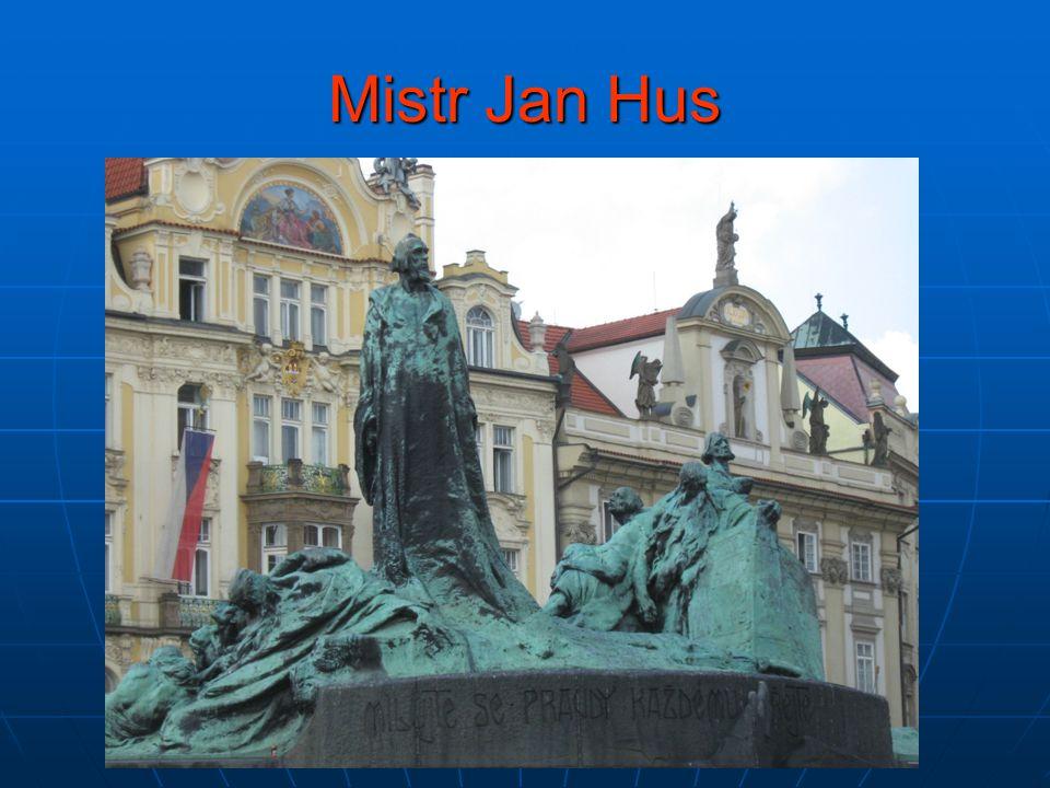 Mistr Jan Hus v dílech našich umělců  Kde se nachází socha Jana Husa.