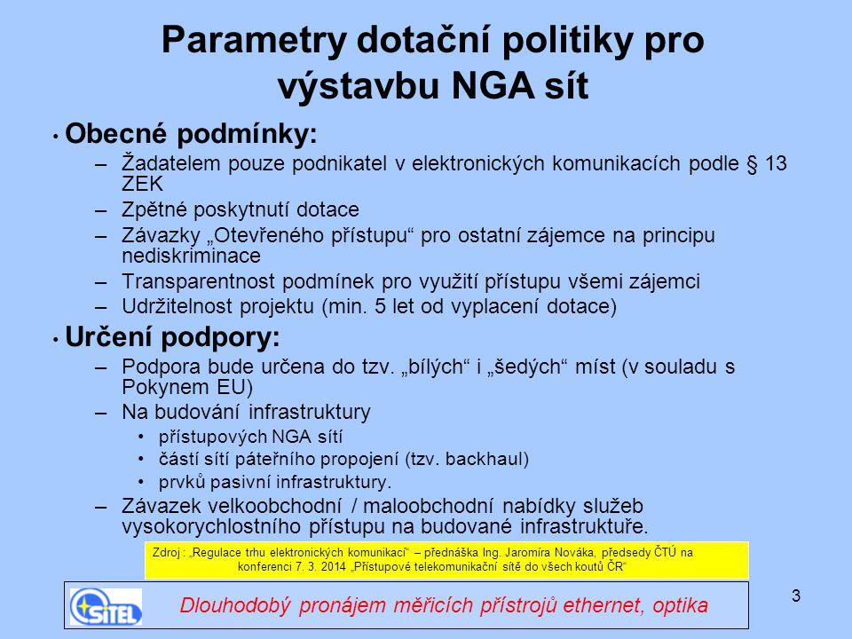 4 Mapa ČTÚ – pokrytí NGA sítí v ČR Zdroj : www.CTU.cz Indikativní mapa NGA sítíwww.CTU.cz Zákaznický dispečink 24 hodin/7 dní v týdnu
