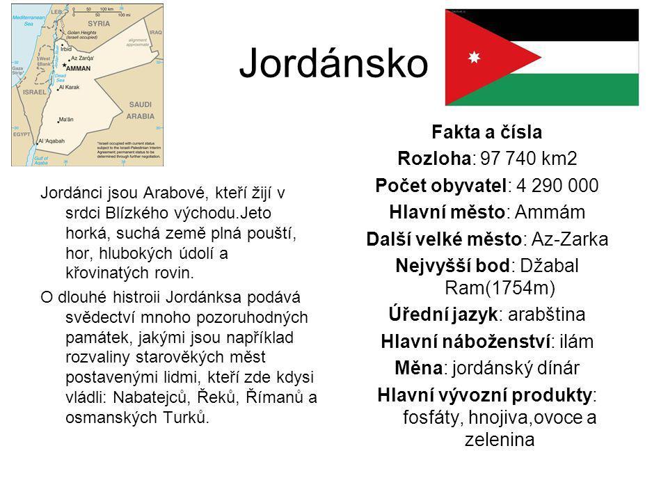 Jordánsko Jordánci jsou Arabové, kteří žijí v srdci Blízkého východu.Jeto horká, suchá země plná pouští, hor, hlubokých údolí a křovinatých rovin. O d