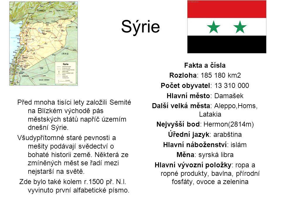 Sýrie Před mnoha tisíci lety založili Semité na Blízkém východě pás městských států napříč územím dnešní Sýrie. Všudypřítomné staré pevnosti a mešity
