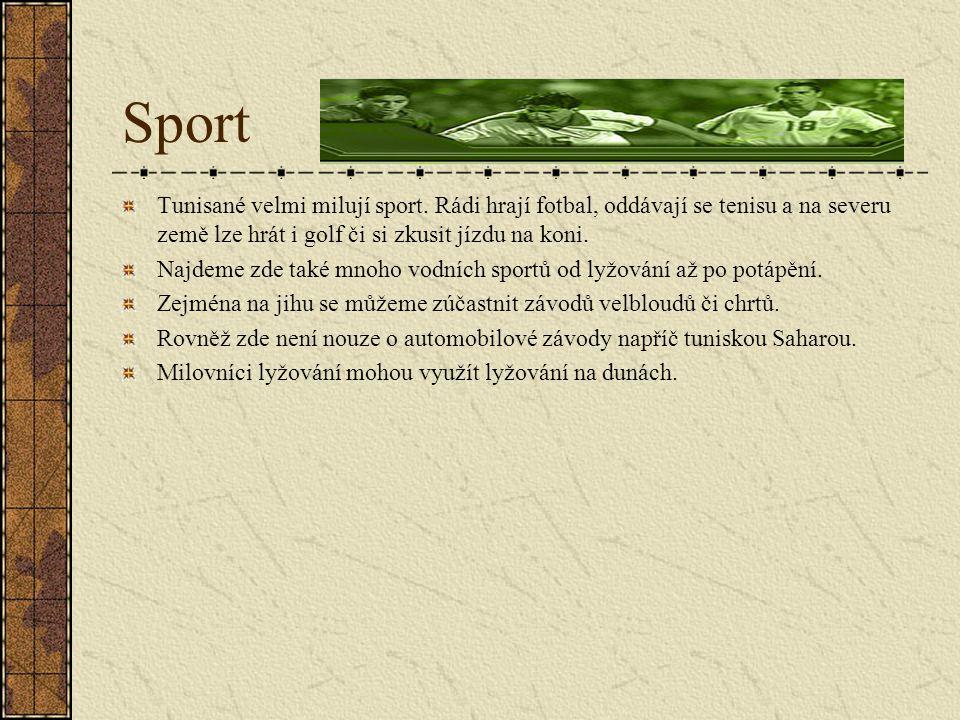 Sport Tunisané velmi milují sport.