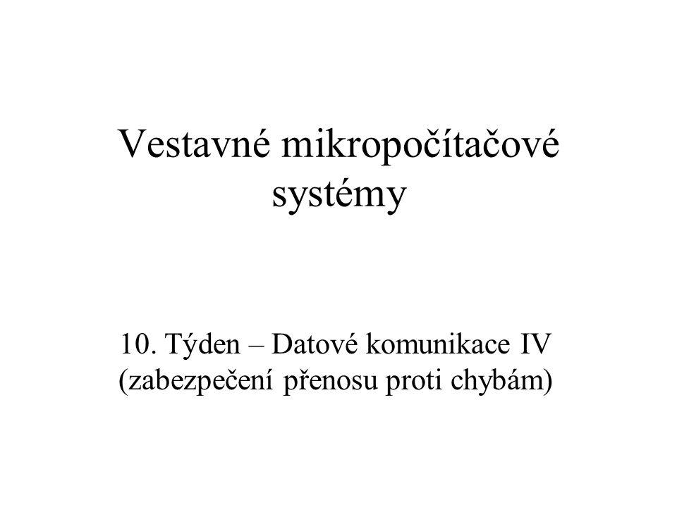 Vestavné mikropočítačové systémy 10.