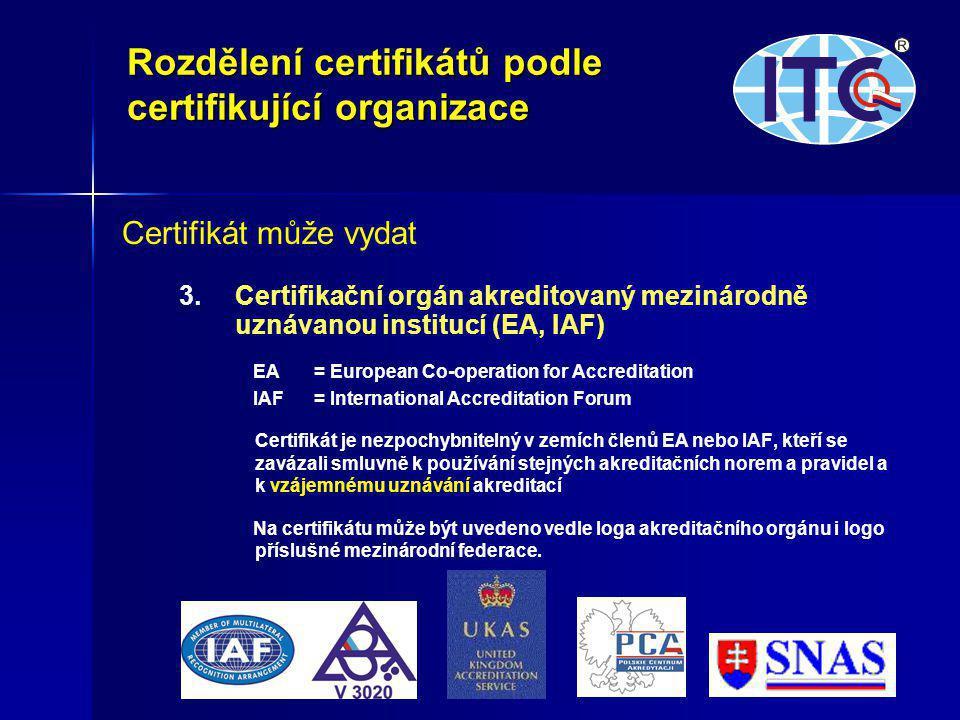 6 Certifikát může vydat 3.