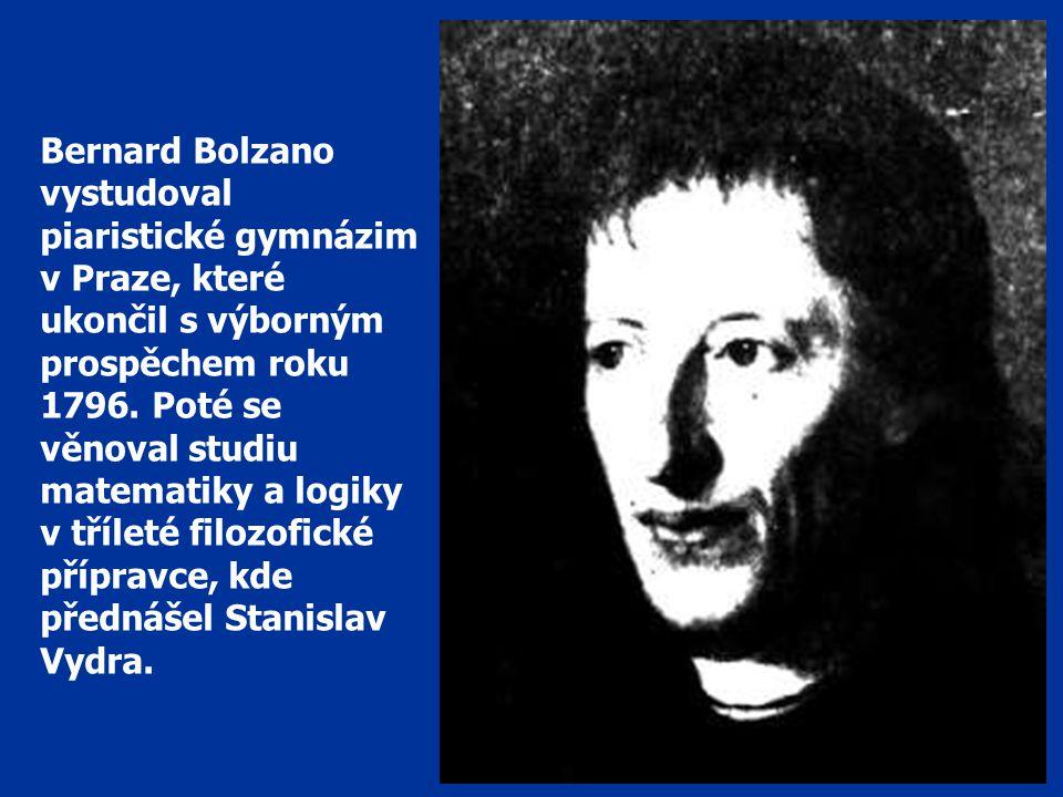 B. Bolzano BÝT ŠŤASTEN SÁM A JINÉ BLAŽIT – TO JE PRAVÝ ÚKOL ČLOVĚKA.