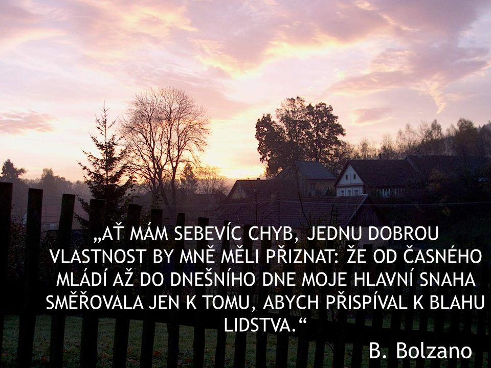 Špýchar na okraji Těchobuze měl podle Bolzana sloužit jako obilní záložna pro obyvatele obce.