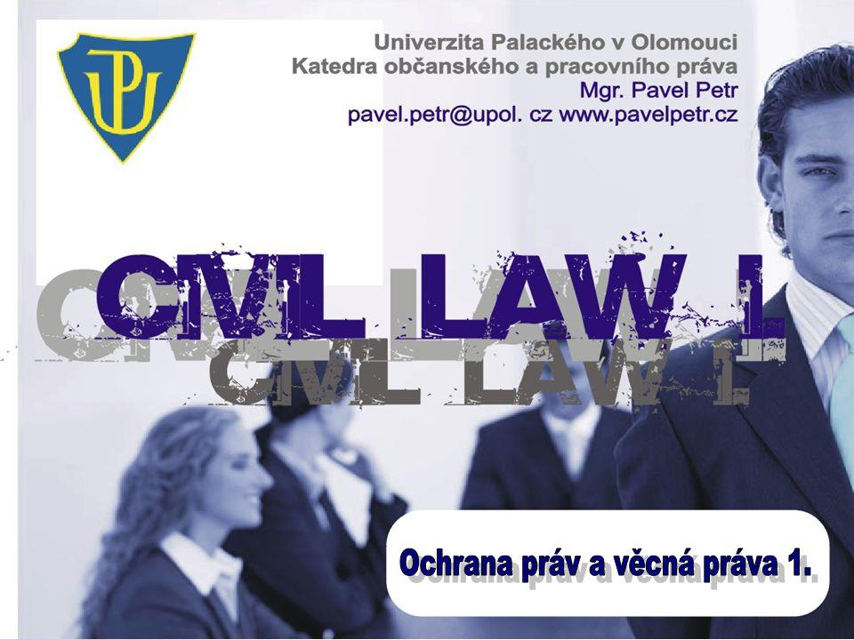 Ochrana práv a věcná práva 1