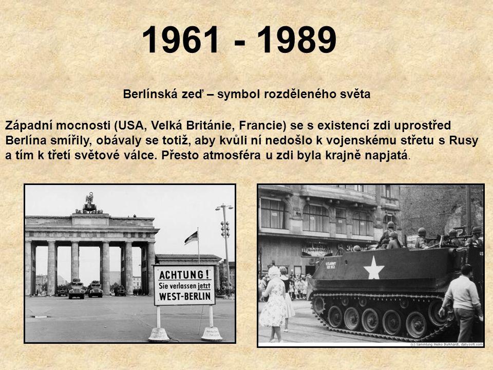 13.srpen 1961 Stavba zdi pokračuje Plot byl záhy nahrazen betonovou zdí Lidé byli šokováni Řada rodin byla rozdělena Na 28 let se berlínská zeď stala